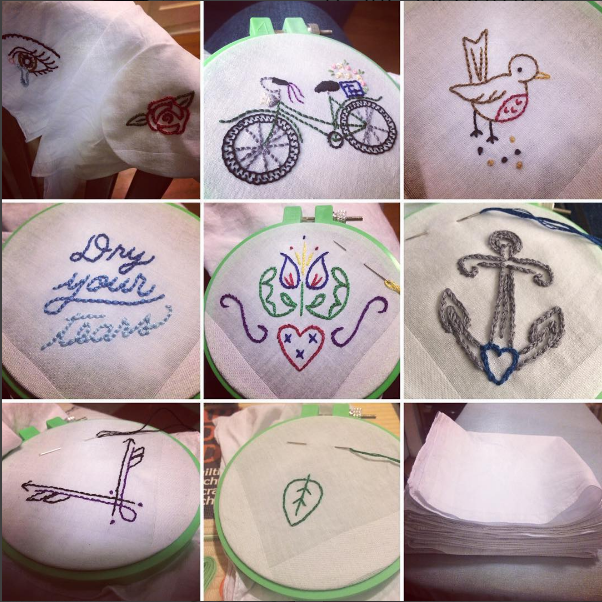 I embroidered all of these between Monday and Sunday.