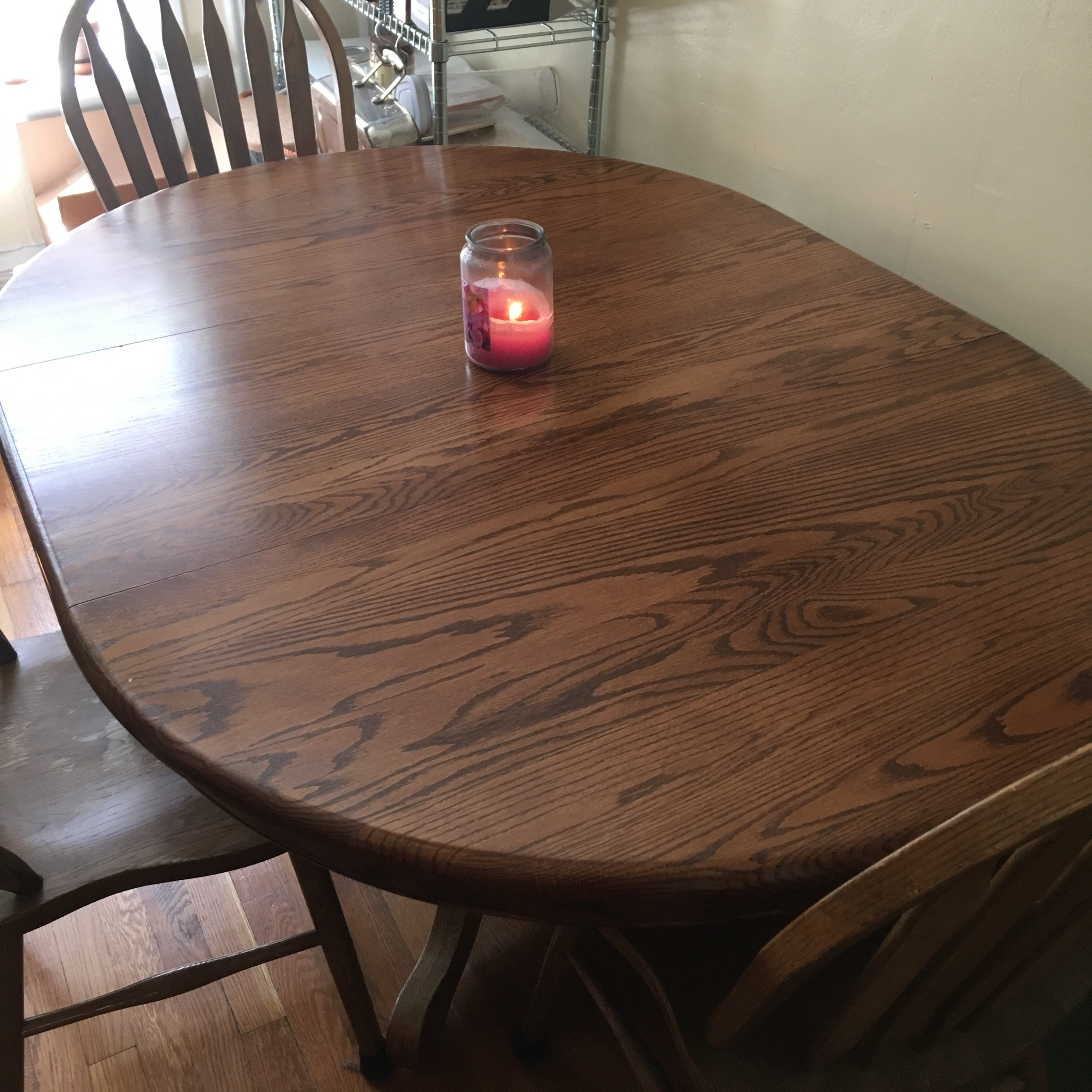The kitchen table hasn't been this clear in at least a month
