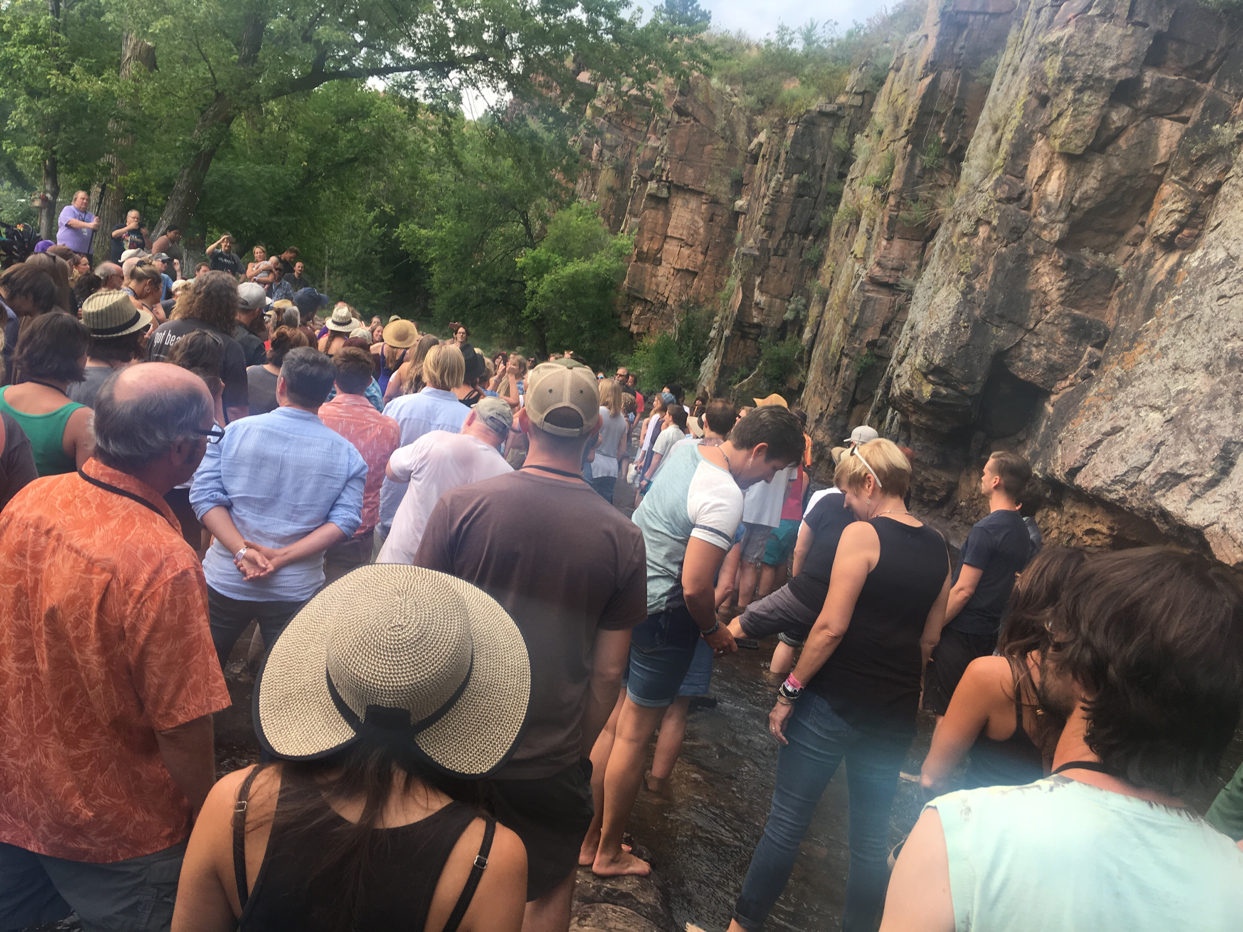 Group sing in the St. Vrain
